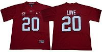 Stanford Cardinal #20 Bryce Love Red Limited Stitched NCAA Jersey