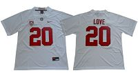 Stanford Cardinal #20 Bryce Love White Limited Stitched NCAA Jersey