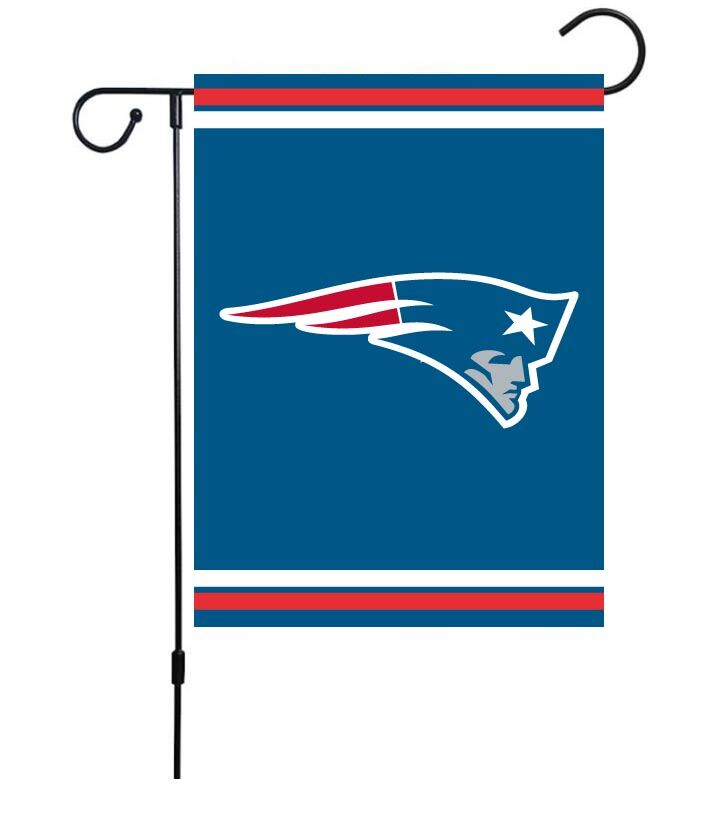 NFL New England Patriots 30cm*45cm NO Pole Double-Sided Garden Flag (Customized Logo)