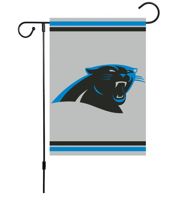 NFL Carolina Panthers 30cm*45cm NO Pole Double-Sided Garden Flag (Customized Logo)