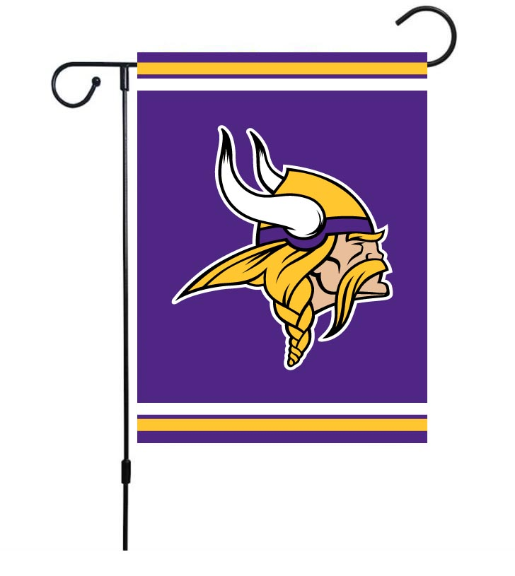 NFL Minnesota Vikings 30cm*45cm NO Pole Double-Sided Garden Flag (Customized Logo)