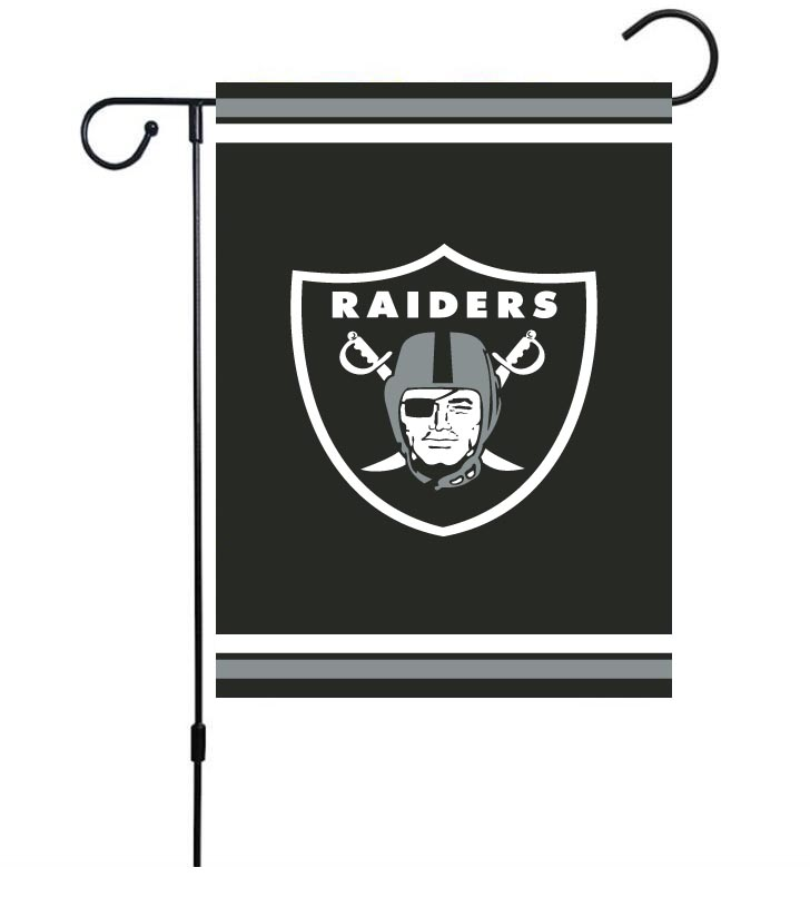NFL Oakland Raiders 30cm*45cm NO Pole Double-Sided Garden Flag (Customized Logo)