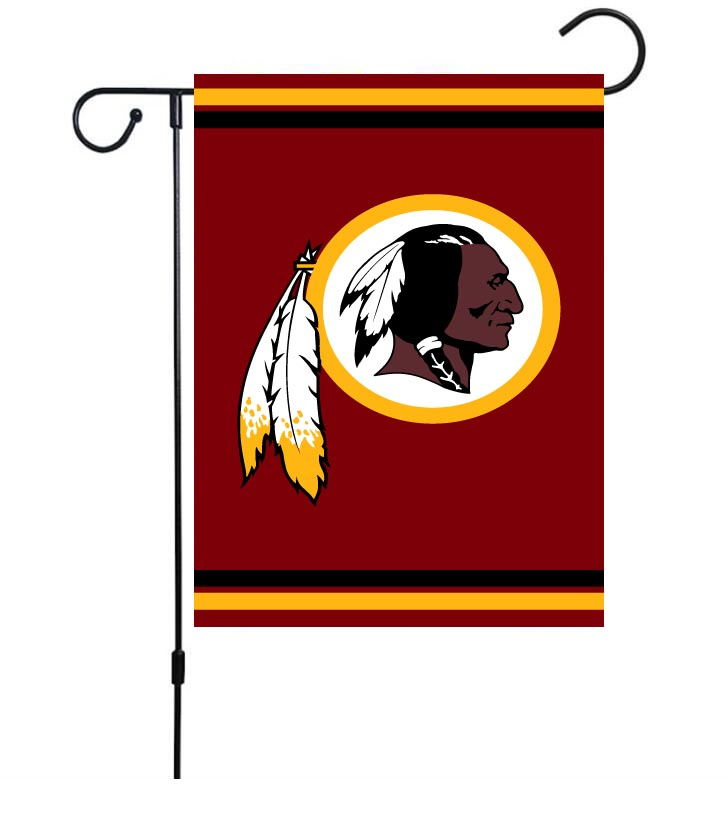 NFL Washington Redskins 30cm*45cm NO Pole Double-Sided Garden Flag (Customized Logo)