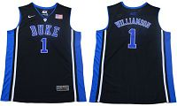 Duke Blue Devils Devils #1 Zion Williamson Black/Blue Basketball Elite Stitched NCAA Jersey