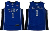 Blue Devils #1 Zion Williamson Blue/Black Basketball Elite Stitched NCAA Jersey
