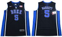 Duke Blue Devils #5 R.J. Barrett Black/Blue Basketball Elite Stitched NCAA Jersey