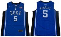 Duke Blue Devils #5 R.J. Barrett Blue/Black Basketball Elite Stitched NCAA Jersey