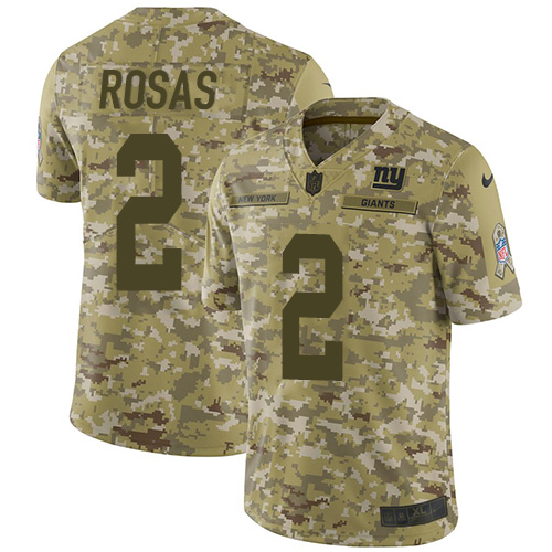 Nike New York Giants  2 Aldrick Rosas Camo Men s Stitched NFL Limited 2018  Salute To Service Jersey 112d04bd5