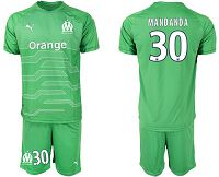 Marseille #30 Mandanda Green Goalkeeper Soccer Club Jersey