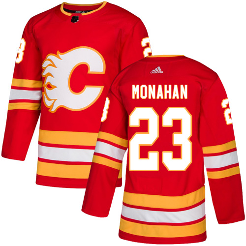 Adidas Calgary Flames  23 Sean Monahan Red Alternate Authentic Stitched NHL  Jersey a56a9db5b