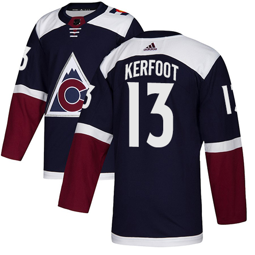 0b7d3c97c Adidas Colorado Avalanche  13 Alexander Kerfoot Navy Alternate Authentic Stitched  NHL Jersey