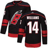 Adidas Carolina Hurricanes #14 Justin Williams Black Alternate Authentic Stitched NHL Jersey