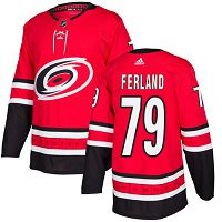 Adidas Carolina Hurricanes #79 Michael Ferland Red Home Authentic Stitched NHL Jersey