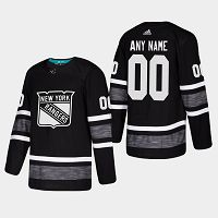 Men's Adidas New York Rangers Custom Black Parley Authentic Pro 2019 NHL All-Star Game Jersey