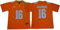 Tennessee Vols #16 Peyton Manning Orange Stitched NCAA Jersey