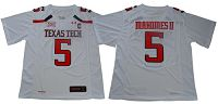 Texas Tech Red Raiders #5 Patrick Mahomes White Limited Stitched NCAA Jersey