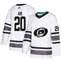 Carolina Hurricanes #20 Sebastian Aho White Authentic 2019 All-Star Stitched NHL Jersey