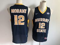 Men's Nike Murray State College #12 Ja Morant Blue NCAA Jersey