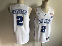 Men's Duke Blue Devils #2 Cameron Reddish White Basketball Stitched NCAA Jersey
