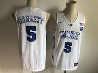 Men's Duke Blue Devils #5 R.J. Barrett White Basketball Stitched NCAA Jersey