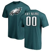 Philadelphia Eagles Nike NFL Pro Line Personalized Custom Name & Number Logo Personalized T-Shirt - Green