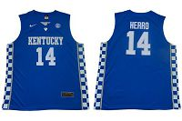 Kentucky Wildcats #14 Tyler Herro Royal Blue NBA Elite Stitched College Jersey