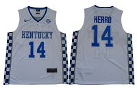 Kentucky Wildcats #14 Tyler Herro White NBA Elite Stitched College Jersey