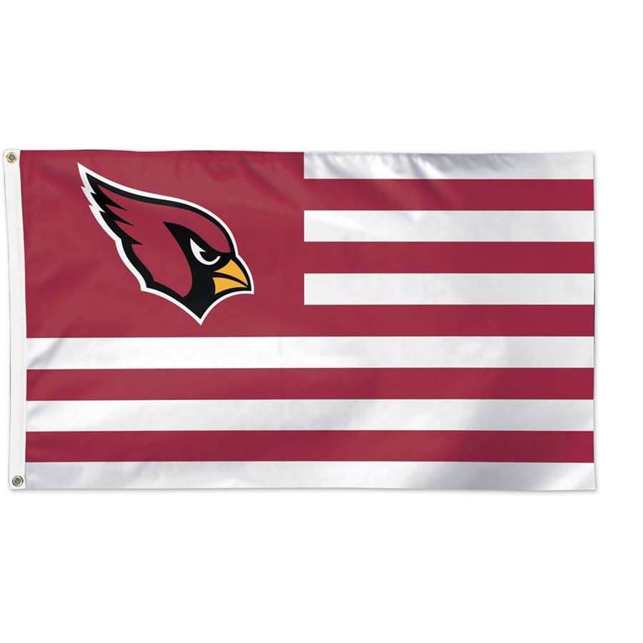 Arizona Cardinals WinCraft 3' x 5'(90*150 cm) Americana Stars & Stripes Deluxe Flag