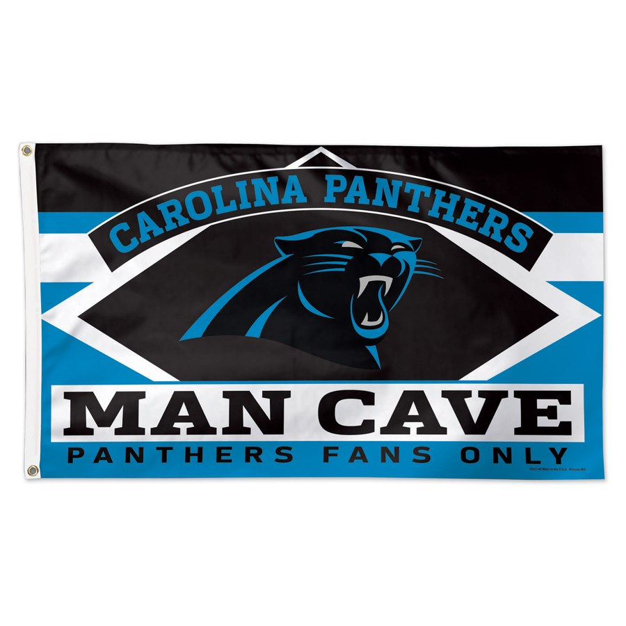 Carolina Panthers WinCraft 3' x 5'(90*150 cm) Deluxe Man Cave Flag