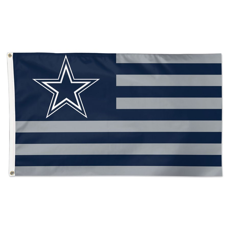 Dallas Cowboys WinCraft 3' x 5'(90*150 cm) Americana Stars & Stripes Deluxe Flag