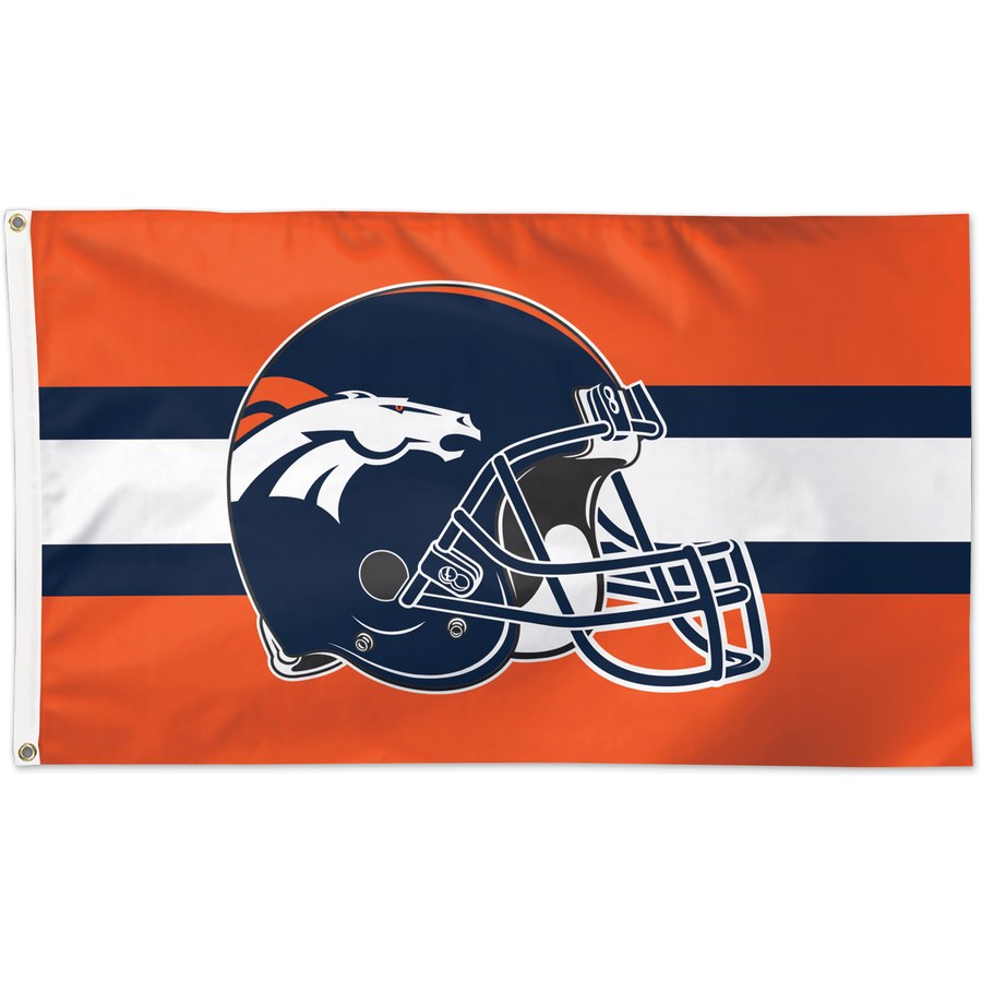 Denver Broncos WinCraft One-Sided 3' x 5'(90*150 cm) Deluxe Helmet Flag