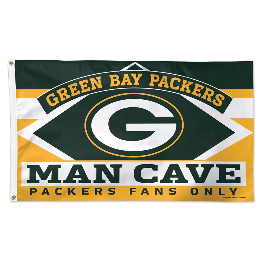 Green Bay Packers WinCraft 3' x 5'(90*150 cm) Deluxe Man Cave Flag