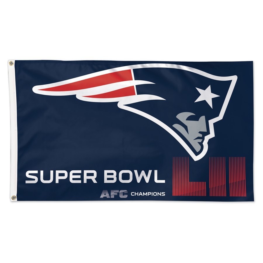 New England Patriots WinCraft 2017 AFC Champions 1-Sided Deluxe 3' x 5'(90*150 cm) Flag with Grommets