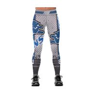 Women's Detroit Lions Team Sublimated Fashion Yoga High Waist Fitness Leggings