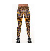 Women's Los Angeles Chargers Team Sublimated Fashion Yoga High Waist Fitness Leggings
