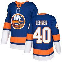 New York Islanders #40 Robin Lehner Royal Blue Home Authentic Stitched NHL Jersey