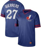 Montreal Expos #27 Vladimir Guerrero Royal Authentic Cooperstown Collection Stitched MLB Jersey