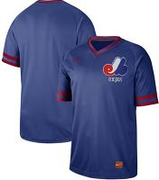 Montreal Expos Blank Royal Authentic Cooperstown Collection Stitched MLB Jersey