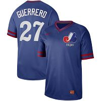 Men's Nike Montreal Expos #27 Vladimir Guerrero Cooperstown Collection Legend V-Neck Jersey
