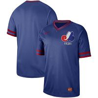 Men's Nike Montreal Expos Blank Cooperstown Collection Legend V-Neck Jersey