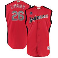 Men's American League Majestic #26 DJ LeMahieu Red 2019 MLB All-Star Game Workout Player Jersey