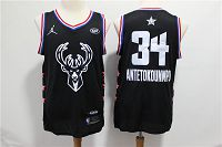 Men's Jordan Brand Milwaukee Bucks #34 Giannis Antetokounmpo Black Swingman 2019 All-Star Game NBA Jersey