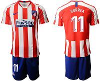 Men's 2019-20 Atletico Madrid 11 CORREA Home Soccer Jersey