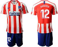 Men's 2019-20 Atletico Madrid 12 AUGUSTO Home Soccer Jersey