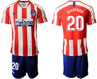 Men's 2019-20 Atletico Madrid 20 JUANFRAN Home Soccer Jersey