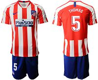 Men's 2019-20 Atletico Madrid 5 THOMAS Home Soccer Jersey