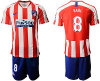 Men's 2019-20 Atletico Madrid 8 SAUL Home Soccer Jersey