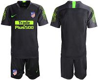 Men's 2019-20 Atletico Madrid Black Goalkeepe Soccer Jersey