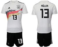 Men's 2019-20 Germany 13 MULLER Home Soccer Jersey