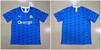 Men's 2019-20 Marseille Away Thailand Soccer Jersey
